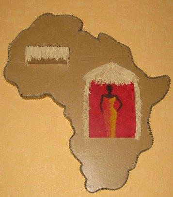 tableau aux couleurs de l`Afrique
